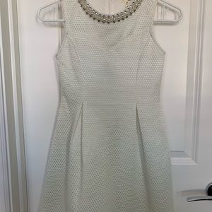 Girls size medium white dress